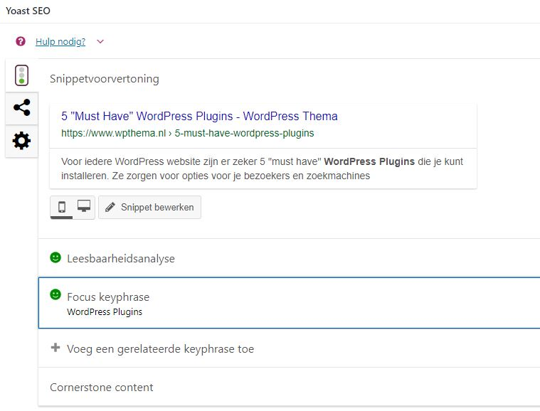 WordPress Plugins voor Contact en SEO
